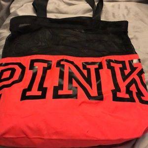 Pink mesh bag
